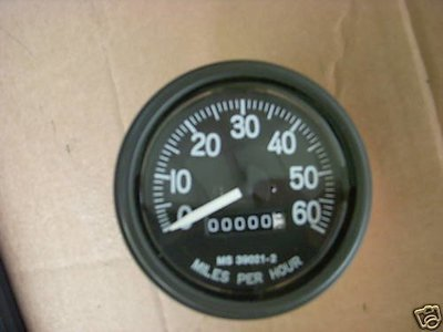 M35A2 M SERIES NEW SPEEDOMETER 0-60MPH MS39021-2 MB M38