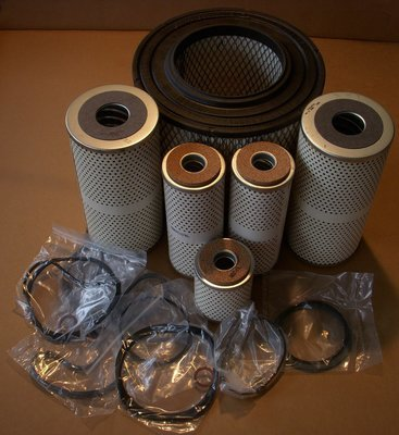 Complete M35A2 multi fuel filter kit with air filter