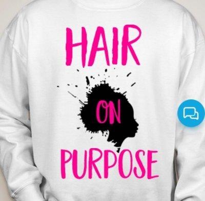 HairOnPurpose Sweatshirts- White