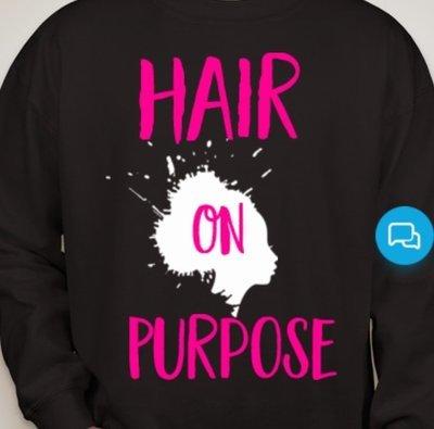 HairOnPurpose Sweatshirts-Black