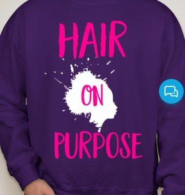 HairOnPurpose Sweatshirt- Purple