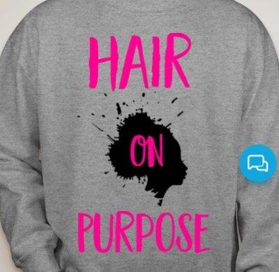 HairOnPurpose Sweatshirt- Grey