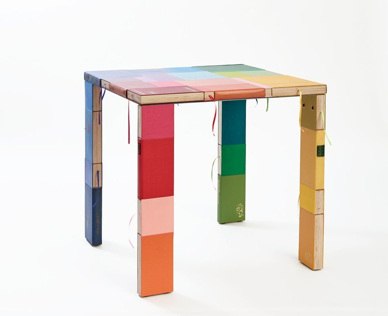 Square table by Jacqueline le Bleu