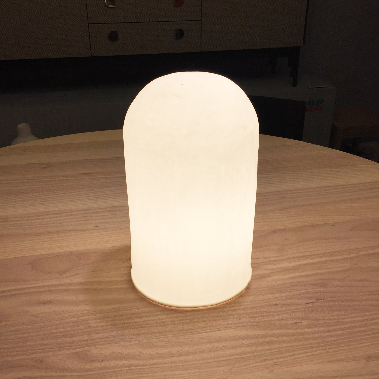 Porcelain table lamp Bone China [31cm] by Gerard Bovenberg.