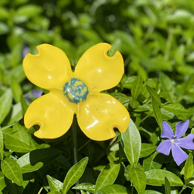 Porcelain Dogwood Flower - made by ceramicART Vashon, WA