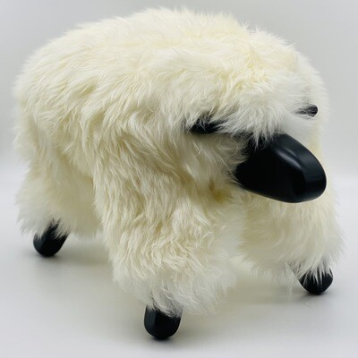 mighty sheepPAL - white with black wood