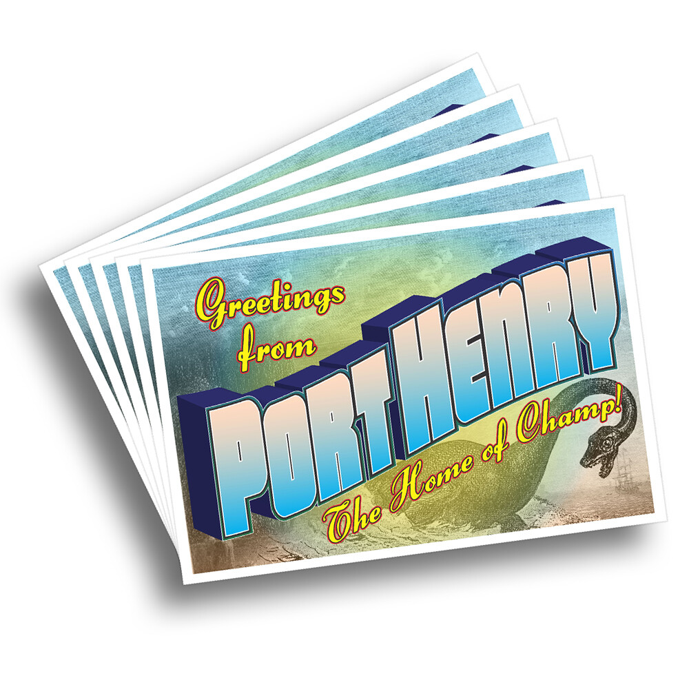 Greetings from Port Henry Postcard