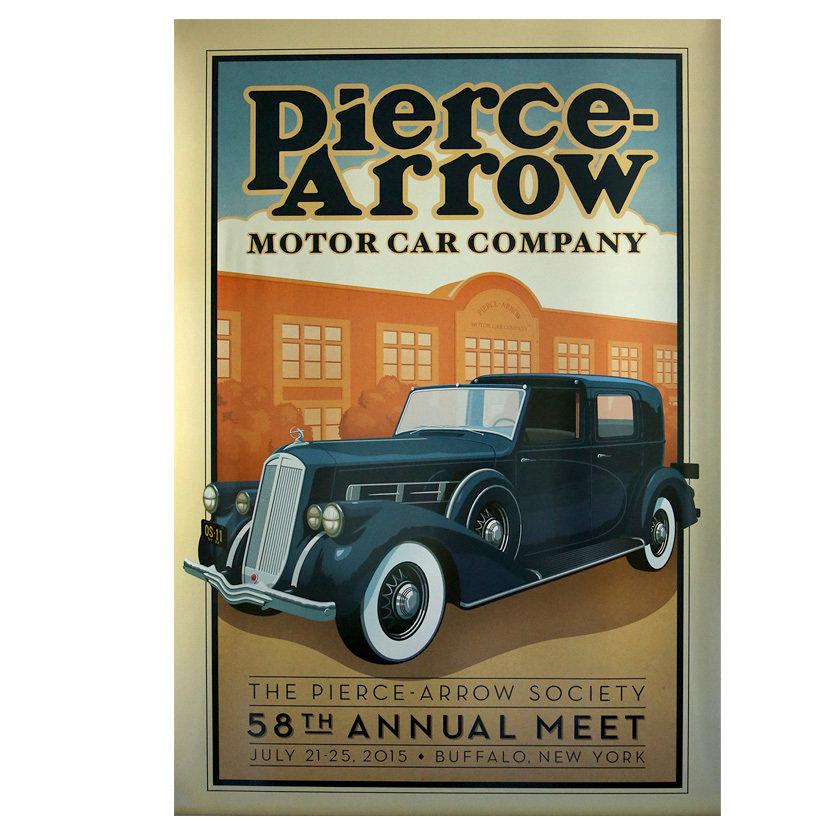 2015 Pierce-Arrow Society Annual Meet Poster - Buffalo, NY