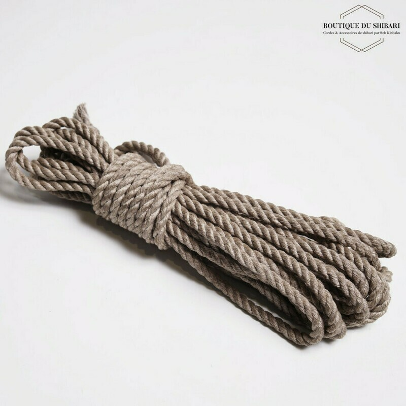 CORDE SHIBARI CHANVRE 6mm / 8M.