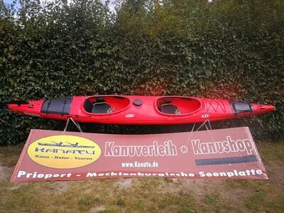 Prijon Excursion EVO rot gebraucht Kajak Set 2019