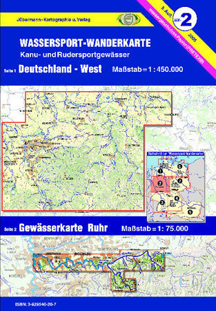 Jübermann Wassersport- Wanderkarte WW2 Deutschland- West