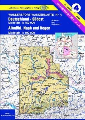Jübermann Wassersport- Wanderkarte WW4 Deutschland- Südost