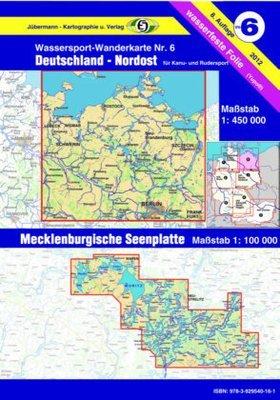 Jübermann Wassersport- Wanderkarte WW6 Deutschland Nordost