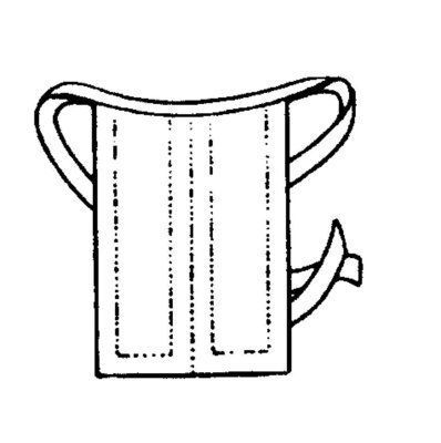 Bindebeffchen, uniert (halboffen), Hohlsaum