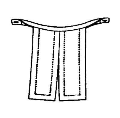 Unterknöpfbeffchen,lutherisch(ganzoffen)
