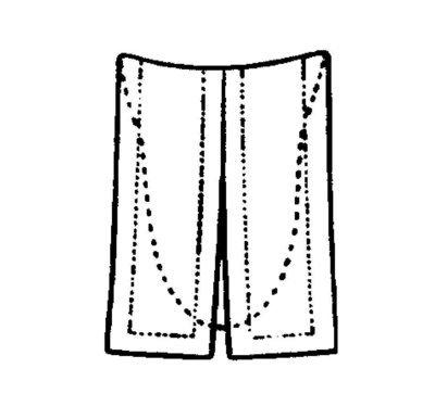 Einsteckbeffchen, uniert (halboffen)