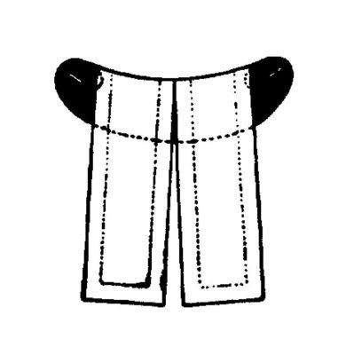Riegelbeffchen (badisch),  lutherisch