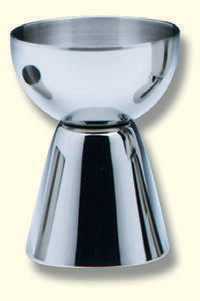 Einzelkelch, Edelstahl, 6,5cm hoch, cupa Ø 5cm