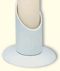 Kerzenständer für Braut und Taufkerzen,Eisen,weiß, 10cm hoch