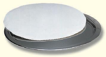 Tablett,Edelstahl, matt, 32 cm Ø, für Anzahl Kelche: 15