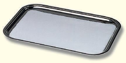 Tablett,Edelstahl, poliert, 34x26cm, für Anzahl Kelche: 15