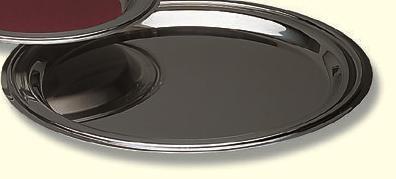 Tablett, Edelstahl, poliert, 36cm Ø, für Anzahl Kelche: 15