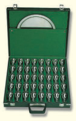 Aufbewahretui, zweilagig, mit Fach für Tabletts im Deckel