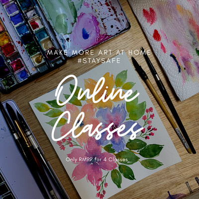 Online Classes // Watercolor Loose Florals 4 Classes pack