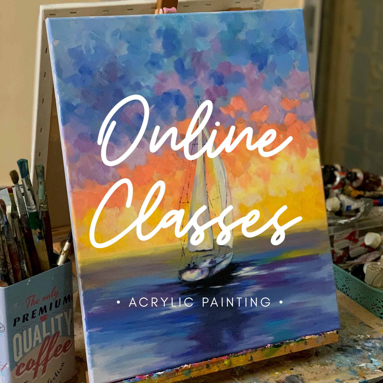 Online Classes // Acrylic 2 Tutorials Value Pack
