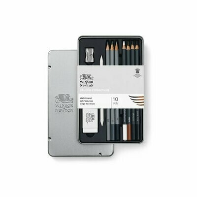 W&N STUDIO COLLECTION SKETCHING PENCIL SET - 10PC