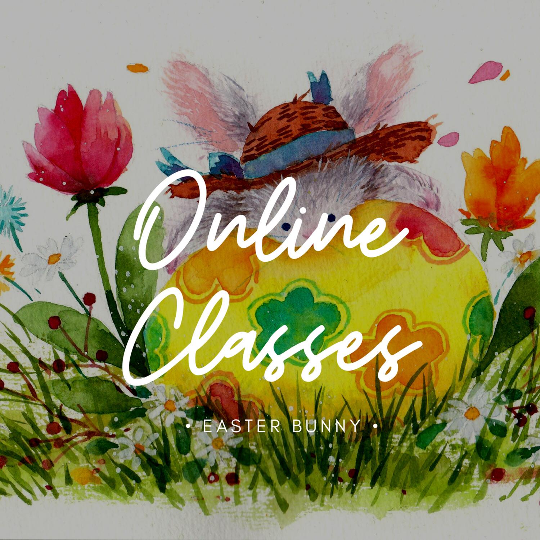 Online Class // Watercolor Easter Bunny