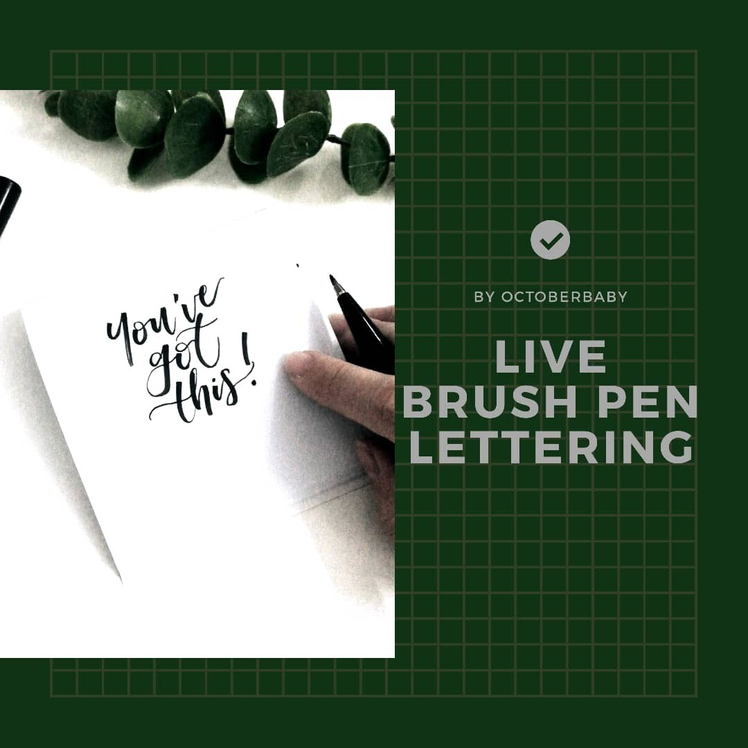 Online Live Workshop // Brush Pen Lettering