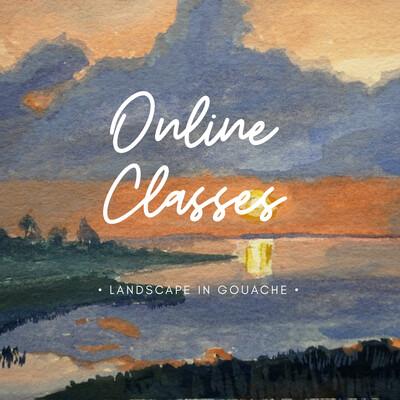 Online Class // Painting Landscape with Gouache