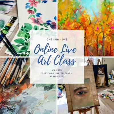 Online Class // Online Live Art Class via Zoom
