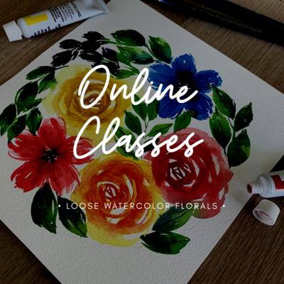 Online Classes // Watercolor Loose Florals - Roses