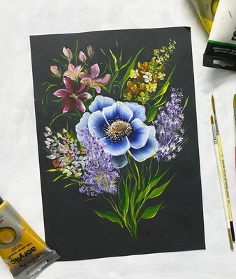 15th May // ONE-STROKE PAINTING ONLINE ACRYLIC CLASS