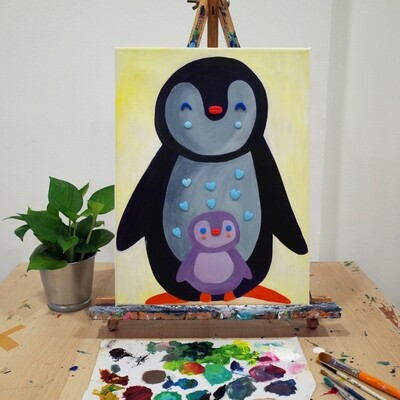 PROMO! 2nd May // Weekend with ARTtherapy - Mother's & Child Acrylic Mixed Media Painting