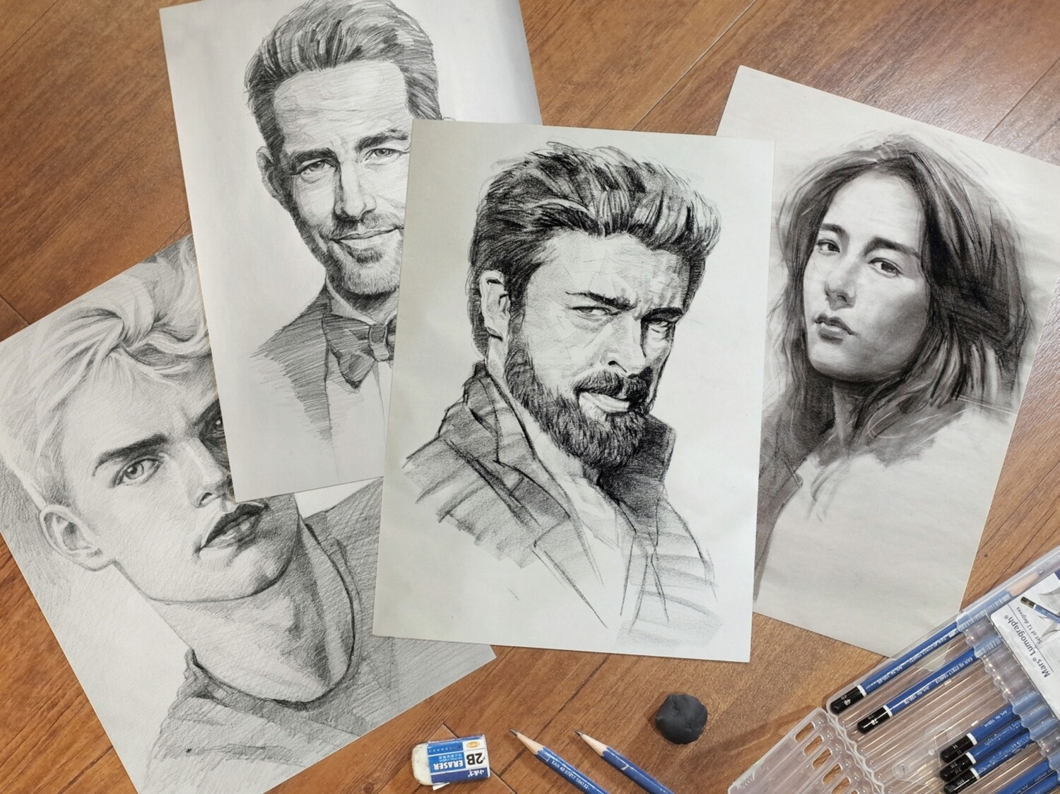 12 Lessons // Portrait Drawing ( Pencil Sketching )
