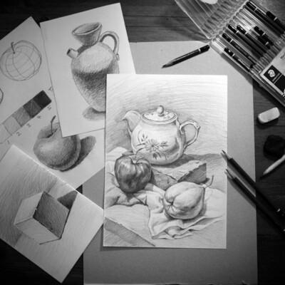 12 Lessons // Art Basics - Still Life Sketching