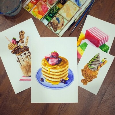 PROMO! 16th May // Weekend with ARTtherapy - Watercolor Dessert