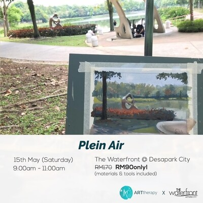PROMO! 15th May // Weekend with ARTtherapy - Plein Air Guoache