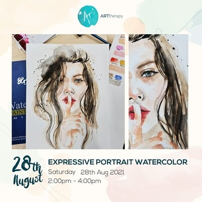 Online Interactive Workshop // Watercolor Expressive Portrait