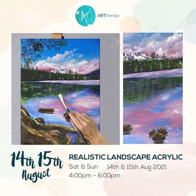 Online Interactive Workshop // Realistic Landscape Acrylic ( 2 days)