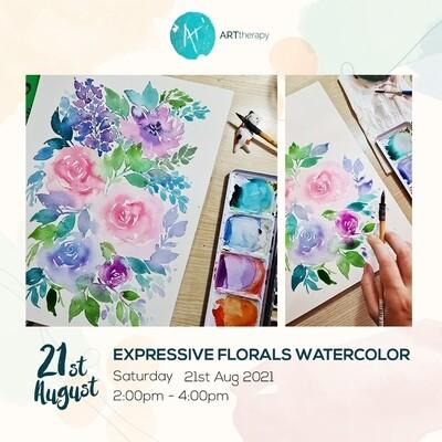 Online Interactive Workshop // Watercolor Expressive Florals