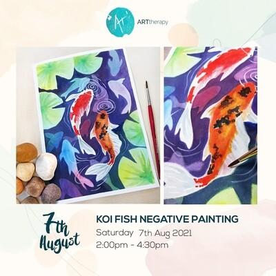 Online Interactive Workshop // Watercolor Koi Fish Negative Painting