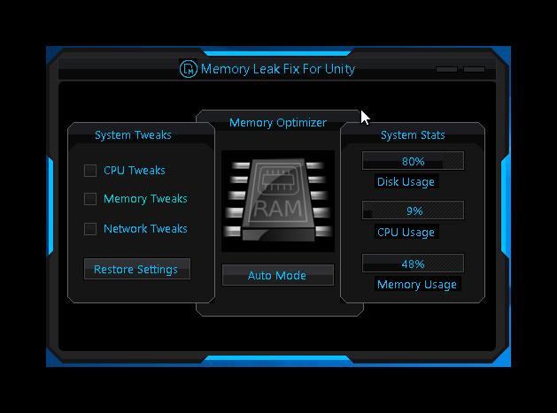 Unity Memory Leak Fix