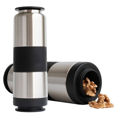 Dual Chamber Water Bottle - Stainless