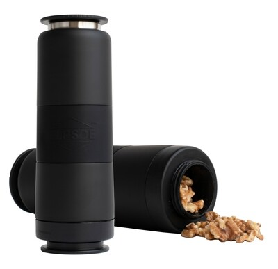 Dual Chamber Water Bottle - Matte Black
