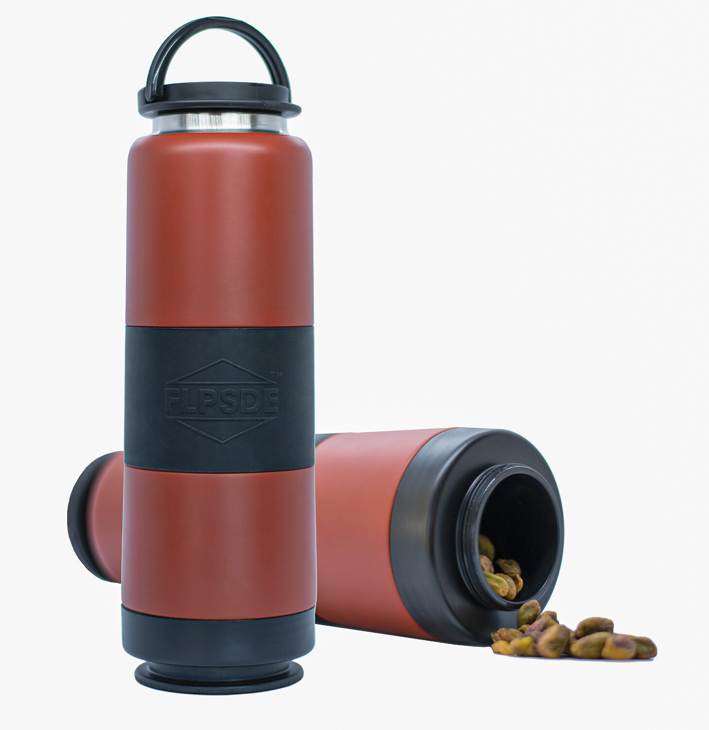 Dual Chamber Water Bottle - Clay