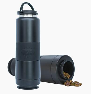 Dual Chamber Water Bottle - Matte Black